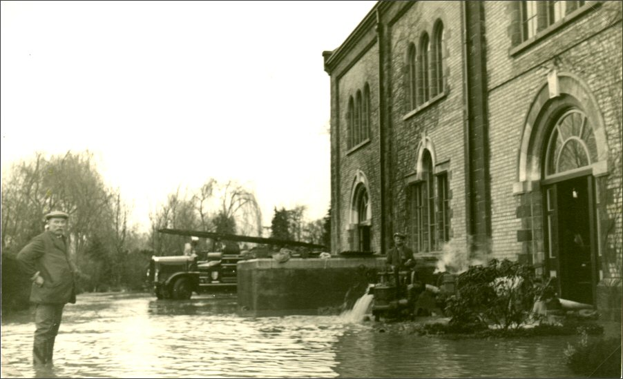 Langfors Pumping Station 1939 Flood