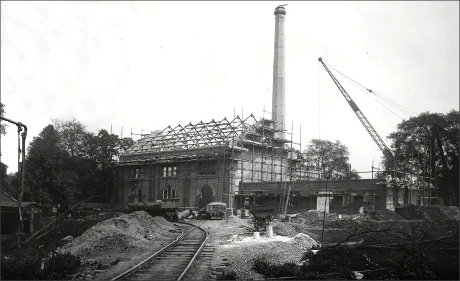 Langford Pumping Station under construction